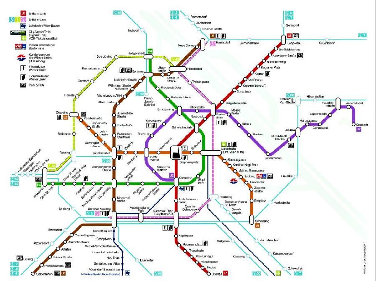 Viden Mapa Metro Viden Metra Mapa Rakousko